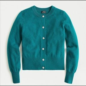 J. Crew Everyday Jeweled Cashmere Cardigan